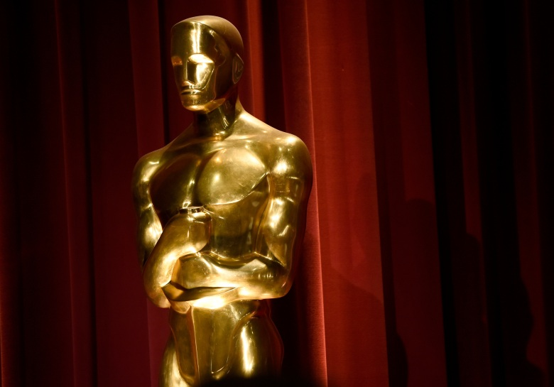 An Oscar statue is seen on stage at the 88th Academy Awards nomination ceremony, in Beverly Hills, Calif. The 88th annual Academy Awards will take place on Sunday, Feb. 28, 2016, at the Dolby Theatre in Los Angeles88th Academy Awards - Nominations Announcement, Beverly Hills, USA