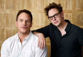 "Chris Pratt, left, a cast member in ""Guardians of the Galaxy Vol. 2,"" and the film's writer/director James Gunn pose together at the London West Hollywood Hotel in West Hollywood, Calif. The film opens May 5""Guardians of the Galaxy Vol.2"" Portrait Session, West Hollywood, USA - 20 Apr 2017"