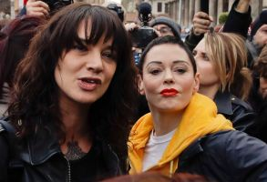 Actresses Asia Argento, left, and Rose McGowan participate in a demonstration to mark the international Women's Day in Rome, . Asia Argento, an Italian actress who helped launch the #MeToo movement, is launching a new movement, #WeToo, which aims to unite women against the power imbalance in favor of men. Argento helped give strength to other women to report sexual assault and harassment when she accused Harvey Weinstein of rape in an expose by The New Yorker. The accusations drew a backlash in Italy for having waited 20 years to come forwardWomen's Day, Rome, Italy - 08 Mar 2018