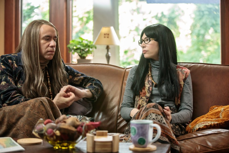 "No Merchandising. Editorial Use Only. No Book Cover UsageMandatory Credit: Photo by Augusta Quirk/IFC/Netflix/Kobal/REX/Shutterstock (9636832ak)Fred Armisen, Carrie Brownstein""Portlandia"" (Season 8) TV Series - 2018"