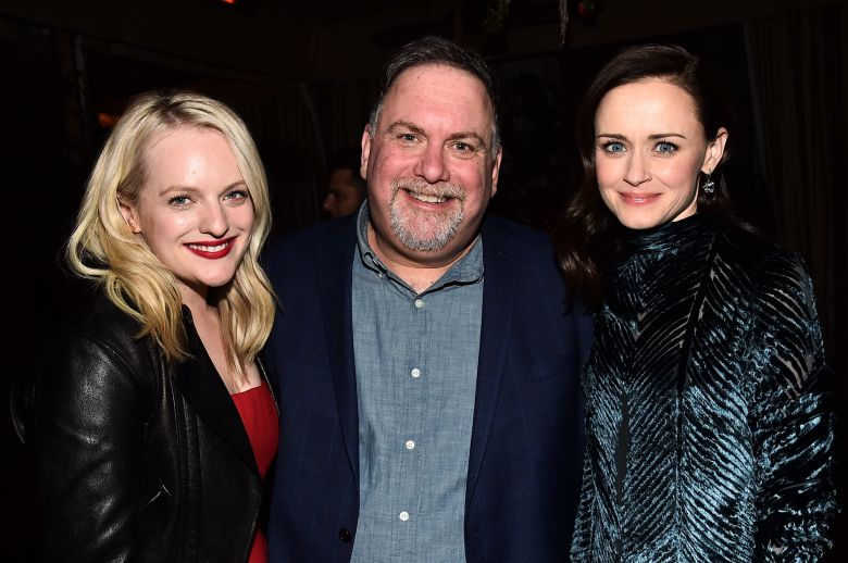 Elisabeth Moss, Bruce Miller and Alexis Bledel'The Handmaid's Tale' TV show premiere, After Party, Los Angeles, USA - 19 Apr 2018