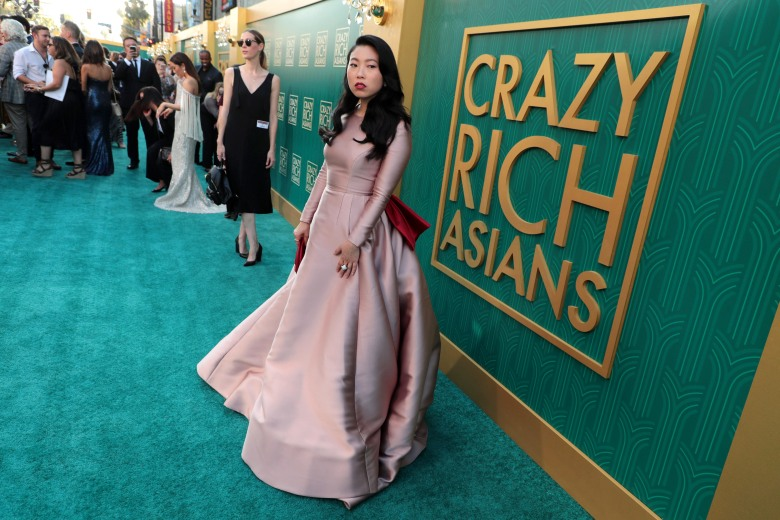 AwkwafinaWarner Bros. Pictures premiere of 'Crazy Rich Asians' at TCL Chinese Theatre, Los Angeles, CA, USA - 7 August 2018WEARING REEM ACRA