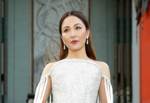 Constance Wu'Crazy Rich Asians' film premiere, Arrivals, Los Angeles, USA - 07 Aug 2018WEARING RALPH AND RUSSO SAME OUTFIT AS CATWALK MODEL *9327887p