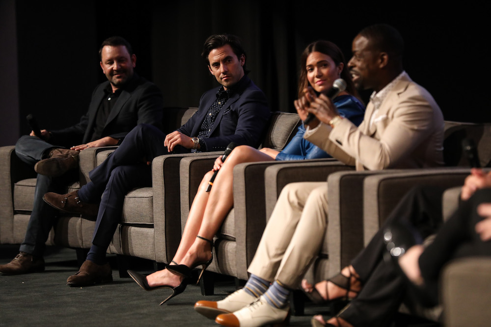 Dan Fogelman, Milo Ventimiglia, Mandy Moore and Sterling K. Brown'This Is Us' TV show FYC event, Panel, Los Angeles, USA - 13 Aug 2018