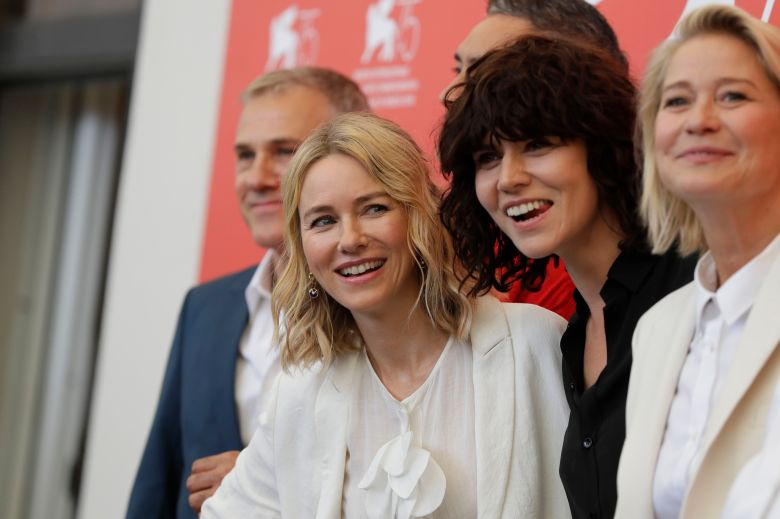Naomi Watts, Malgorzata Szumowska, Trine Dyrholm. Jury members from centre left, Naomi Watts, Malgorzata Szumowska and Trine Dyrholm pose for photographers at the photo call for the Jury at the 75th edition of the Venice Film Festival in VeniceFilm Festival 2018 Jury Photo Call, Venice, Italy - 29 Aug 2018