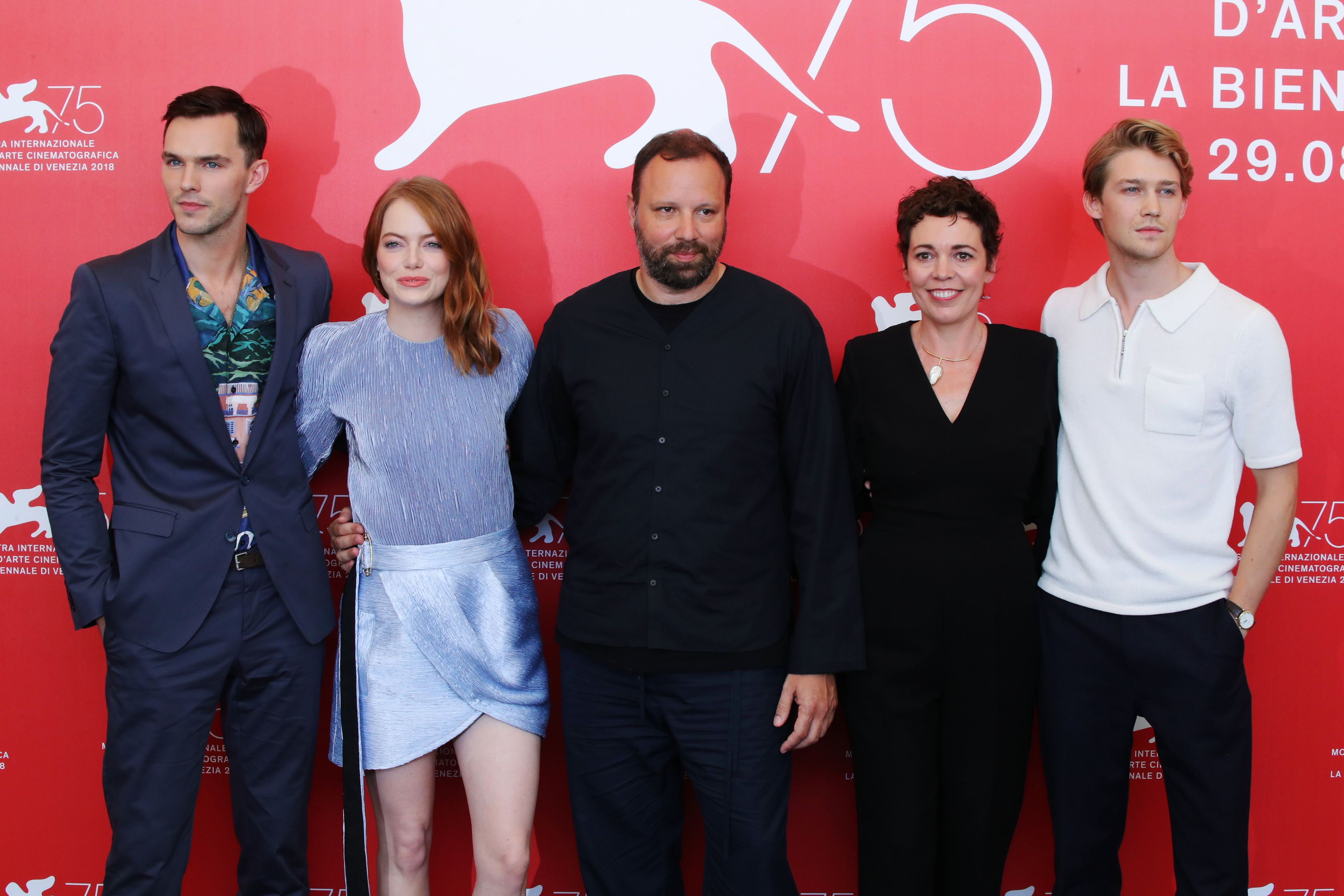 Nicholas Hoult, Emma Stone, Yorgos Lanthimos, Olivia Colman and Joe Alwyn'The Favourite' photocall, 75th Venice International Film Festival, Italy - 30 Aug 2018