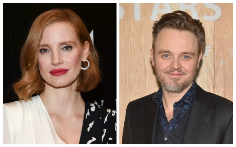 Matthew Newton and Jessica Chastain