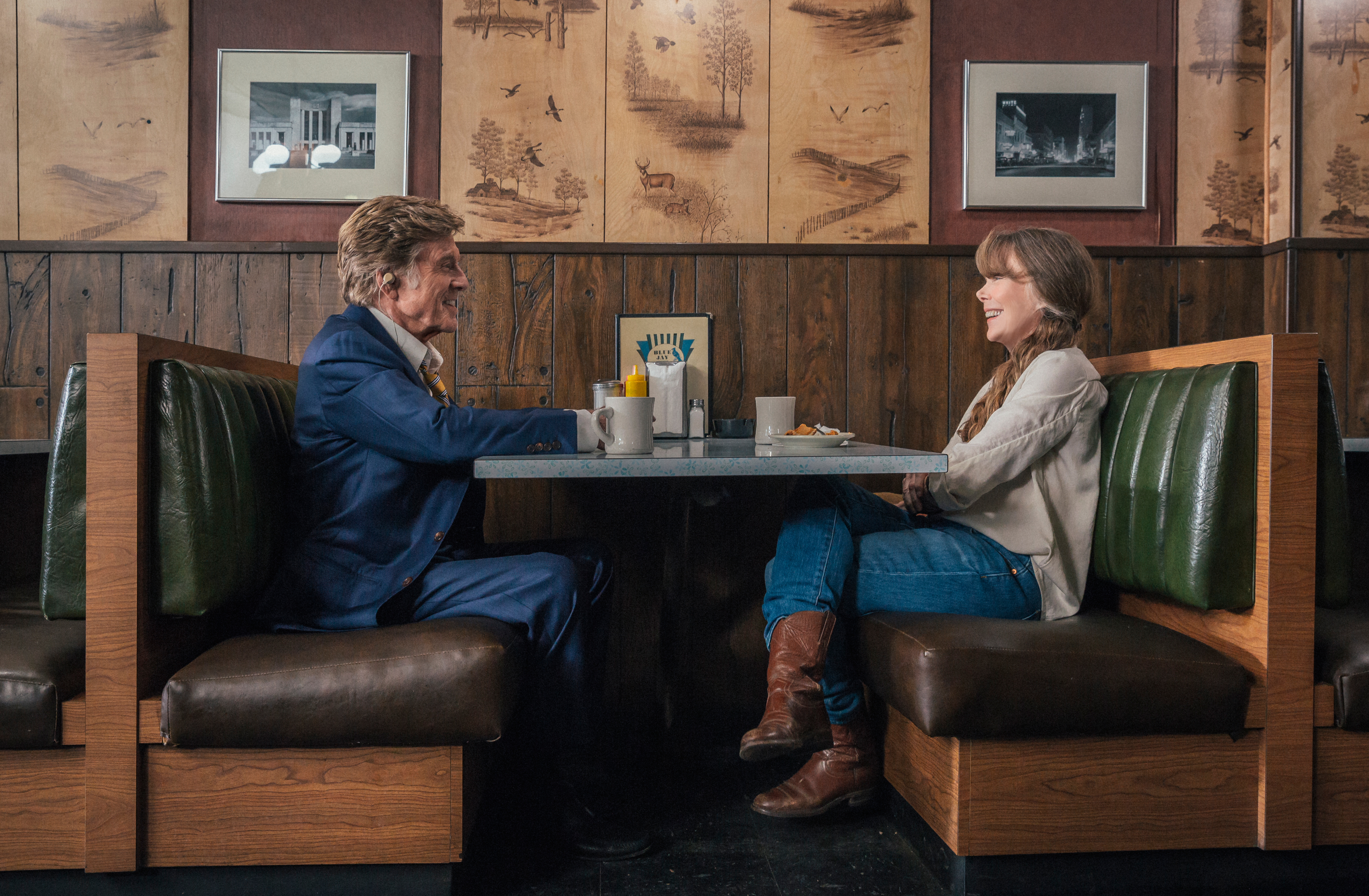 "Robert Redford as ""Forrest Tucker"" and Sissy Spacek as ""Jewel"" in the film THE OLD MAN & THE GUN. Photo by Eric Zachanowich. © 2018 Twentieth Century Fox Film Corporation All Rights Reserved"