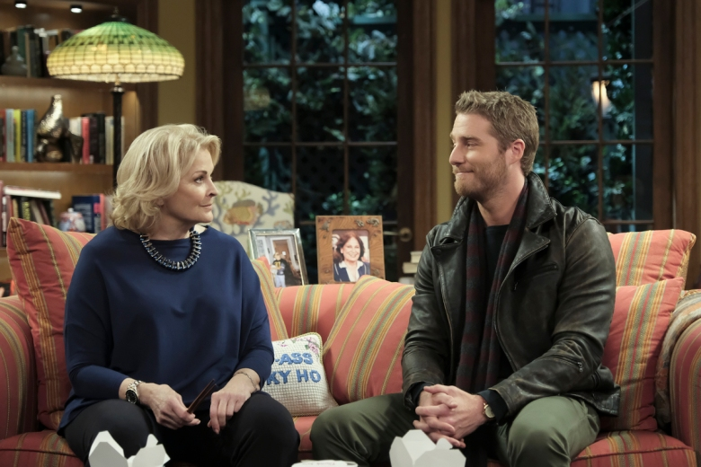 Candice Bergen as Murphy Brown and Jake McDorman as Avery Brown Photo: Jojo Whilden/CBS