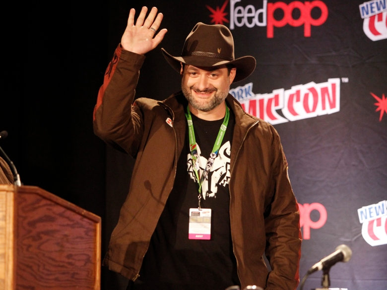 STAR WARS REBELS - Star Wars Rebels previews its second season at New York Comic-Con on October 8, 2015 with Executive Producer Dave Filoni, Ashley Eckstein (Ahsoka Tano), Taylor Gray (Ezra Bridger), and Sarah Michelle Gellar in a special discussion moderated by Lucasfilm's Pablo Hidalgo. Star Wars Rebels returns with new episodes this fall on Disney XD.(Disney XD/Lou Rocco)DAVE FILONI