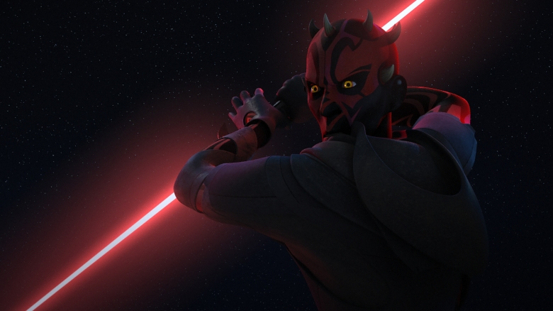 "STAR WARS REBELS - ""Twin Suns"" - Reacting to a vision of Maul, Ezra defies Hera and Kanan to travel to a remote planet in hopes of stopping the former Sith Lord from carrying out his plans. This episode of ""Star Wars Rebels"" airs Saturday, Marc9h 18 (8:30 - 9:00 P.M. EST) on Disney XD. (Lucasfilm)DARTH MAUL"