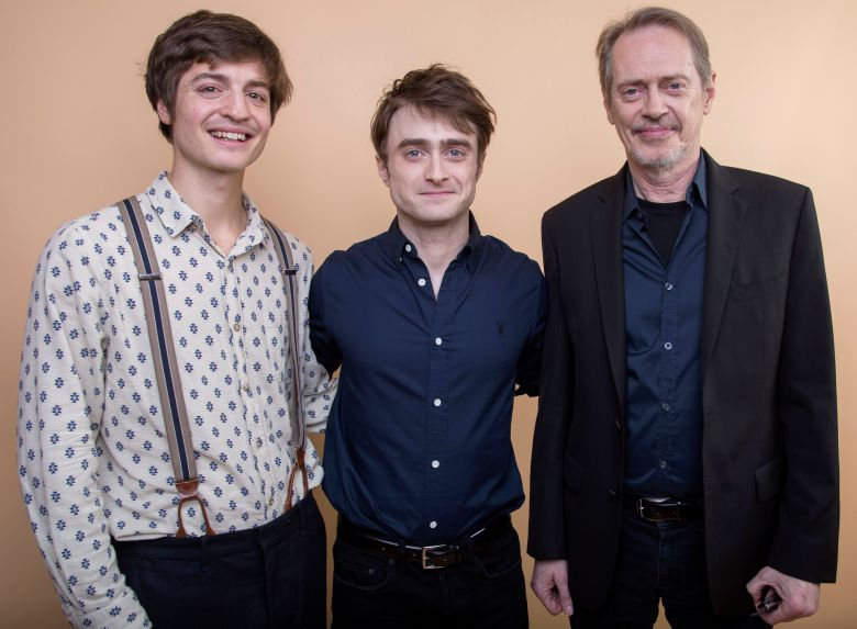 "Simon Rich, Daniel Radcliffe, Steve Buscemi. Simon Rich, from left, Daniel Radcliffe and Steve Buscemi cast members in the TBS series ""Miracle Workers"" pose for a portrait during the 2018 Television Critics Association Winter Press Tour at the Langham Hotel, in Pasadena, Calif2018 Winter TCA - ""Miracle Workers"" Portrait Session, Pasadena, USA - 11 Jan 2018"