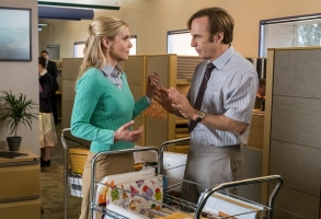 Rhea Seehorn as Kim Wexler, Bob Odenkirk as Jimmy McGill- Better Call Saul _ Season 4, Episode 6 - Photo Credit: Nicole Wilder/AMC/Sony Pictures Television