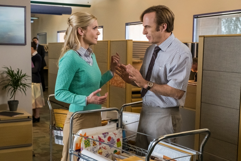 Rhea Seehorn as Kim Wexler, Bob Odenkirk as Jimmy McGill - Better Call Saul _ Season 4, Episode 6 - Photo Credit: Nicole Wilder/AMC/Sony Pictures Television