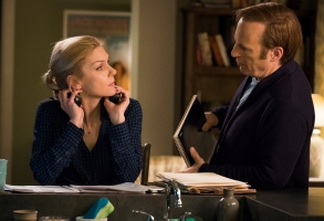 Rhea Seehorn as Kim Wexler, Bob Odenkirk as Jimmy McGill- Better Call Saul _ Season 4, Episode 8 - Photo Credit: Nicole Wilder/AMC/Sony Pictures Television