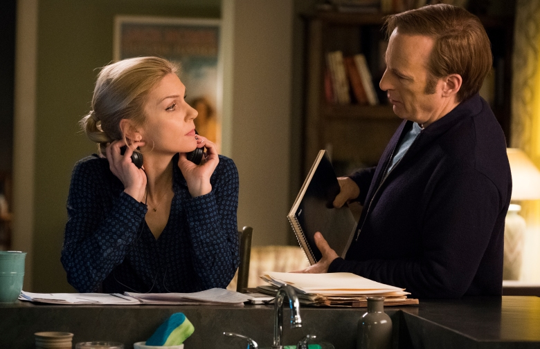 Rhea Seehorn as Kim Wexler, Bob Odenkirk as Jimmy McGill - Better Call Saul _ Season 4, Episode 8 - Photo Credit: Nicole Wilder/AMC/Sony Pictures Television