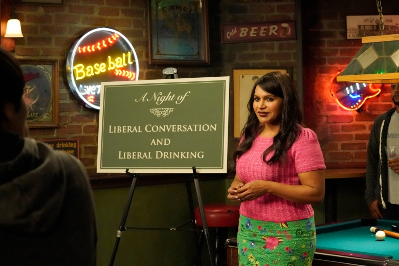 """IT'S ALWAYS SUNNY IN PHILADELPHIA -- """"The Gang Makes Paddy's Great Again"""" – Season 13, Episode 1 (Airs September 5, 10:00 pm e/p) Pictured: (l-r) Mindy Kaling as Cindy. CR: Evans Vestal Ward/FXX"""