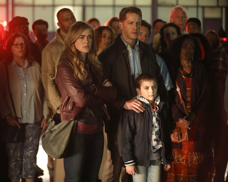 "MANIFEST -- ""Pilot"" -- Pictured: (l-r) Melissa Roxburgh as Michaela Stone, Josh Dallas as Ben Stone, Jack Messina as Cal Stone -- (Photo by: Craig Blankenhorn/NBC/Warner Brothers)"