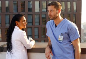 "Freema Agyeman and Ryan Eggold, ""New Amsterdam"""