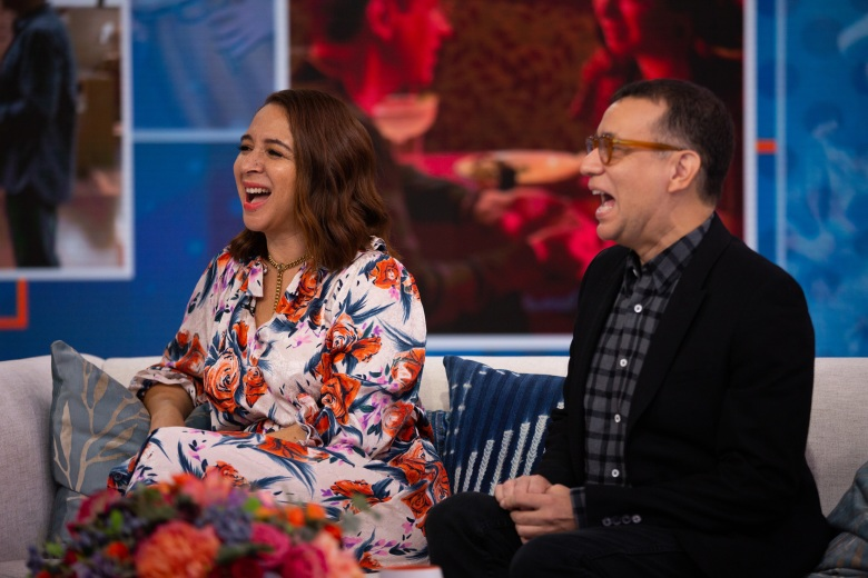 TODAY -- Pictured: Maya Rudolph and Fred Armisen on Wednesday, September 12, 2018 -- (Photo by: Nathan Congleton/NBC)