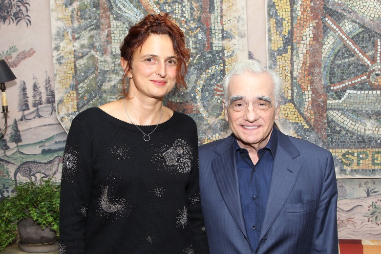 - New York, NY - 9/21/18 - NYC Special Screening of Happy As Lazzaro-Pictured: Alice Rohrwacher (Director), Martin Scorsese -Photo by: Patrick Lewis/Starpix for Netflix -Location: The Whitby Hotel
