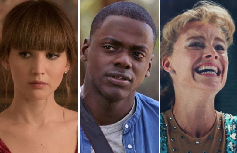 """Red Sparrow,"" ""Get Out,"" and ""I, Tonya"""