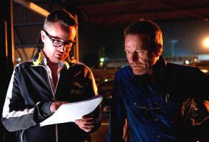 Nicolas Winding Refn and Bryan Cranston