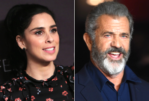 Sarah Silverman and Mel Gibson