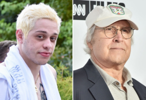 Pete Davidson and Chevy Chase