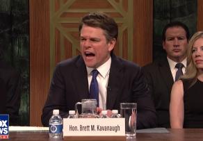 Matt Damon Brett Kavanaugh Saturday Night Live