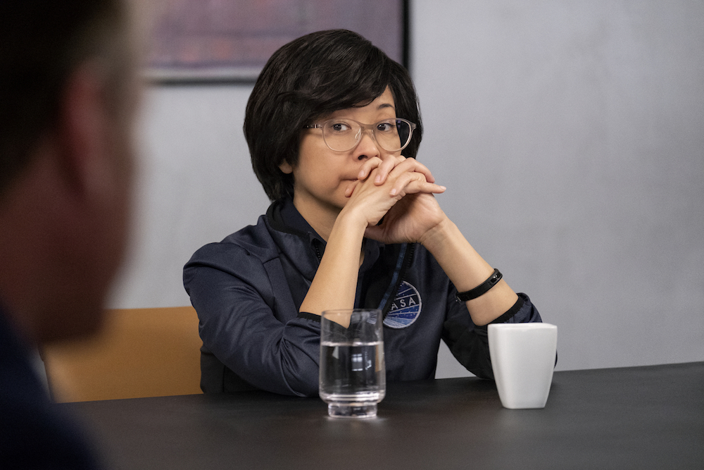 "The First ""The Choice"" - Episode 107 - Tom and the Providence crew must make a choice with potentially life-threatening consequences. Matteo wrestles with his past. Tom and Denise must deal with unfinished business. Jennifer Aiko Hakari (Keiko Agena), shown. (Photo by: Alan Markfield/Hulu)"