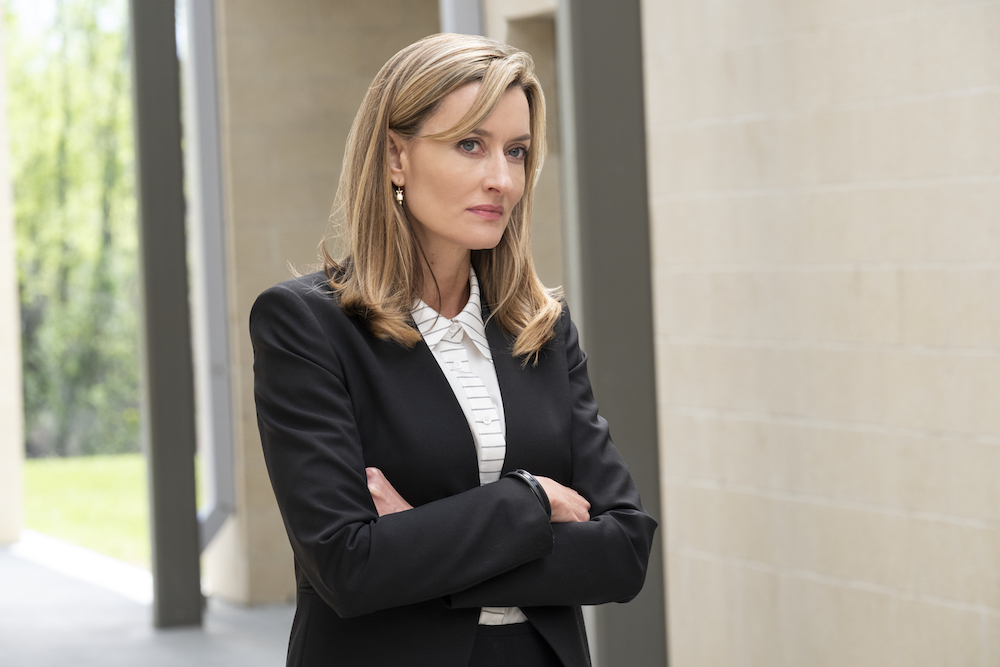 "The First -- ""Near and Far"" - Episode 108 - The crew of Providence 2 prepares to launch. Laz and Denise get ready for a new chapter in their lives. Laz Ingram (Natascha McElhone), shown. (Photo by: Alan Markfield/Hulu)"