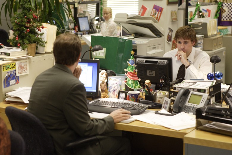 No Merchandising. Editorial Use Only. No Book Cover Usage.Mandatory Credit: Photo by NBC-TV/Kobal/REX/Shutterstock (5886251bu) John Krasinski The Office - 2005 NBC-TV USA Television Documentary
