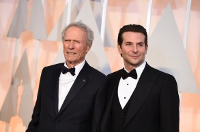 Clint Eastwood, left, and Bradley Cooper arrive at the Oscars, at the Dolby Theatre in Los Angeles87th Academy Awards - Arrivals, Los Angeles, USA