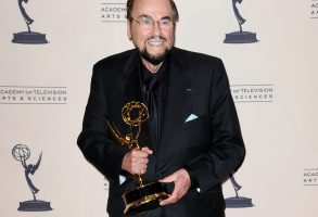 """James Lipton poses backstage with the award for outstanding informational series or special for """"Inside the Actors Studio"""" at the Primetime Creative Arts Emmy Awards at the Nokia Theatre L.A. Live, in Los AngelesPrimetime Creative Arts Emmy Awards 2013 - Press Room, Los Angeles, USA - 15 Sep 2013"""