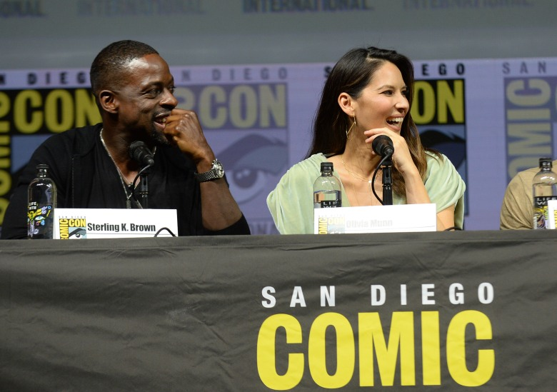 Sterling K. Brown and Olivia Munn'The Predator' film panel, Comic-Con International, San Diego, USA - 19 Jul 2018