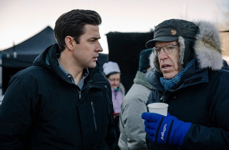"No Merchandising. Editorial Use Only. No Book Cover UsageMandatory Credit: Photo by Jan Thijs/Amazon/Kobal/REX/Shutterstock (9774190i) John Krasinski, Carlton Cuse ""Tom Clancy's Jack Ryan"" TV Show - 2018"
