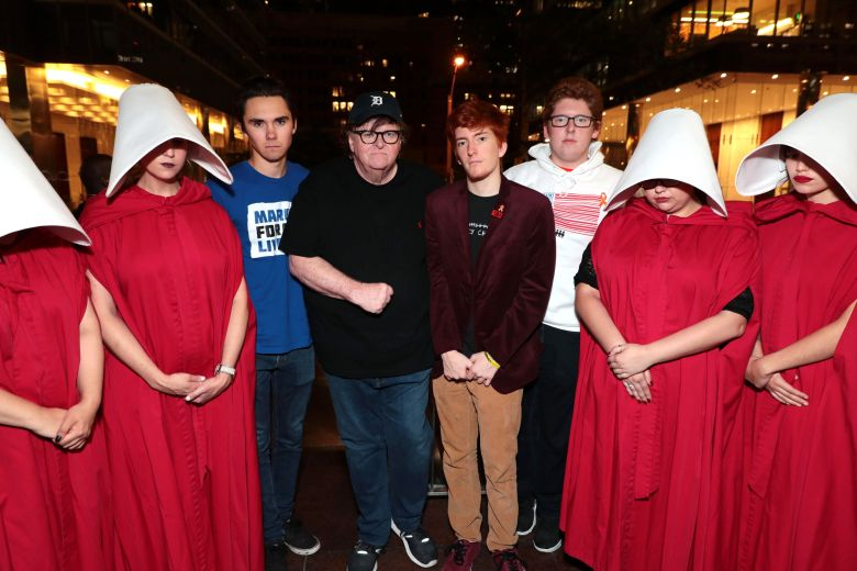 David Hogg, Michael Moore, Writer/Director/Producer, Ryan Deitsch, Matthew DeitschMichael Moore's FAHRENHEIT 11/9 World Premiere at the Toronto International Film Festival, Toronto, Canada - 6 Sep 2018