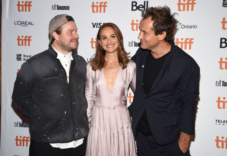 "Brady Corbet, Natalie Portman, Jude Law. Brady Corbet, from left, Natalie Portman and Jude Law attend a screening for ""Vox Lux"" on day 2 of the Toronto International Film Festival at Elgin Theatre, in Toronto2018 TIFF - ""Vox Lux"" Screening, Toronto, Canada - 07 Sep 2018"