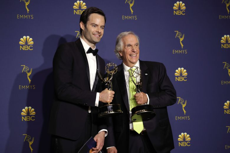 Bill Hader - Outstanding Lead Actor in a Comedy Series - 'Barry' and Henry Winkler - Outstanding Supporting Actor in a Comedy Series - 'Barry'70th Primetime Emmy Awards, Press Room, Los Angeles, USA - 17 Sep 2018