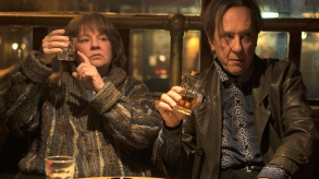 "Melissa McCarthy as ""Lee Israel"" and Richard E. Grant as ""Jack Hock"" in the film CAN YOU EVER FORGIVE ME? Photo by Mary Cybulski. © 2018 Twentieth Century Fox Film Corporation All Rights Reserved"