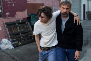 TimothŽe Chalamet as Nic Sheff and Steve Carell as David Scheff star in BEAUTIFUL BOY
