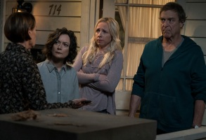 "THE CONNERS - ""Keep on TruckinÕ"" - In the premiere episode, ""Keep on TruckinÕ,"" a sudden turn of events forces the Conners to face the daily struggles of life in Lanford in a way they never have before. ""The Conners"" premieres TUESDAY, OCT. 16 (8:00-8:31 p.m. EDT), on ABC. (ABC/Eric McCandless)LAURIE METCALF, SARA GILBERT, LECY GORANSON, JOHN GOODMAN"