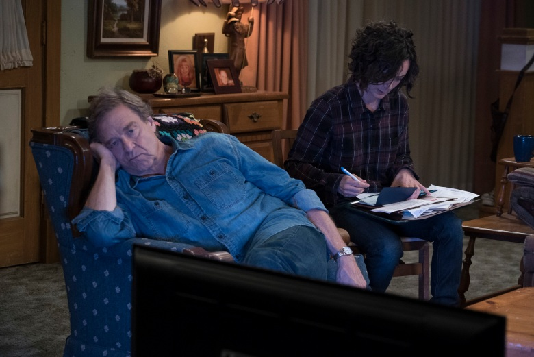 "THE CONNERS - ""Keep on Truckin'"" - A sudden turn of events forces the Conners to face the daily struggles of life in Lanford in a way they never have before, on the series premiere of ""The Conners,"" airing TUESDAY, OCT. 16 (8:00-8:31 p.m. EDT), on The ABC Television Network. (ABC/Eric McCandless)JOHN GOODMAN, SARA GILBERT"