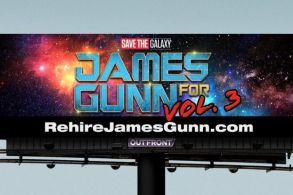 """Rehire James Gunn"" Billboard"