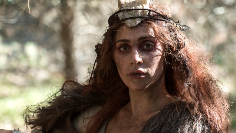 AMERICAN HORROR STORY: ROANOKE -- Pictured: Lady Gaga as Scathach. CR: Prashant Gupta/FX