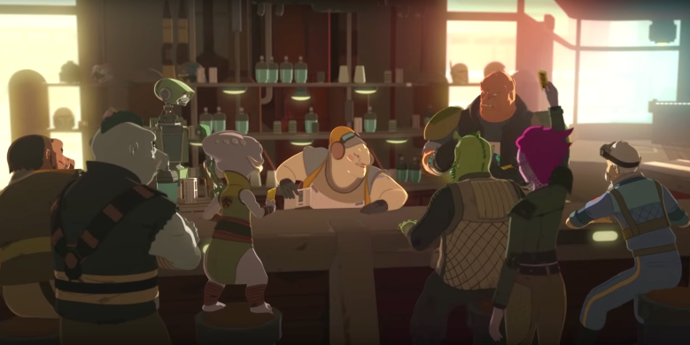 "Aunt Z's Tavern on ""Star Wars Resistance"""
