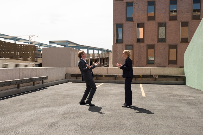 Rhea Seehorn as Kim Wexler, Bob Odenkirk as Jimmy McGill - Better Call Saul _ Season 4, Episode 9 - Photo Credit: Nicole Wilder/AMC/Sony Pictures Television