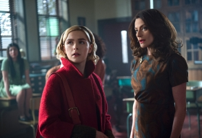 "Kiernan Shipka and Michelle Gomez, ""Chilling Adventures of Sabrina"""