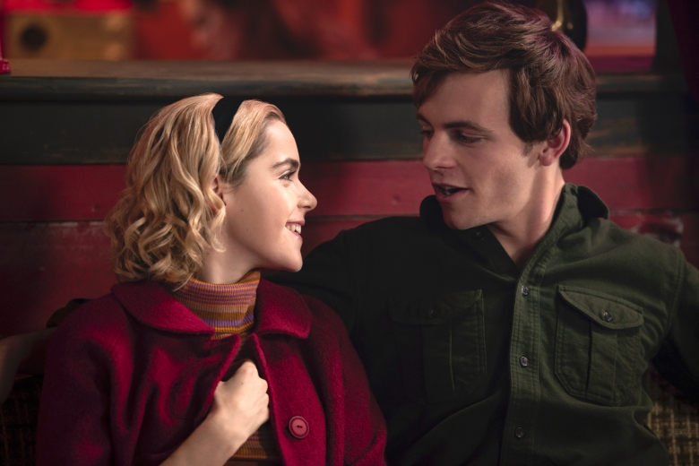 "Kiernan Shipka and Ross Lynch, ""Chilling Adventures of Sabrina"""